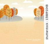 abstract vector natural autumn... | Shutterstock .eps vector #158891048