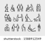 disabled people supporting... | Shutterstock .eps vector #1588912549
