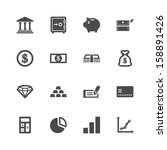 finance icons | Shutterstock .eps vector #158891426