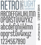 retro triple line stripes font  ... | Shutterstock .eps vector #158893844