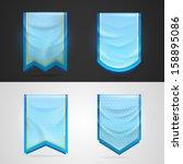 achievement award blue pennant... | Shutterstock .eps vector #158895086