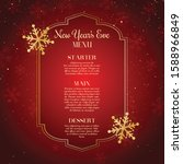 new years eve menu with... | Shutterstock .eps vector #1588966849