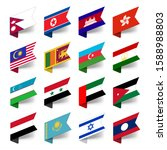 labels flags of the countries... | Shutterstock .eps vector #1588988803
