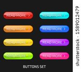 set of colorful glass buttons.... | Shutterstock .eps vector #1589012479