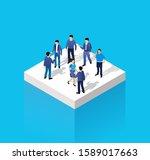 isometric people urban business ... | Shutterstock . vector #1589017663