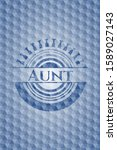 aunt blue emblem with geometric ... | Shutterstock .eps vector #1589027143
