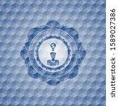 business idea icon inside blue... | Shutterstock .eps vector #1589027386