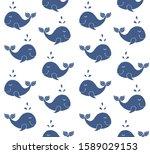 vector seamless pattern of hand ... | Shutterstock .eps vector #1589029153
