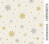 pattern with snowflakes.... | Shutterstock .eps vector #1589038276