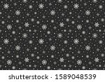christmas pattern with hand... | Shutterstock .eps vector #1589048539