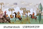 fairy tales and legends of the... | Shutterstock .eps vector #1589049259