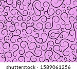 retro seamless wave lines... | Shutterstock .eps vector #1589061256