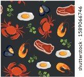 vector illustration  food... | Shutterstock .eps vector #1589066746