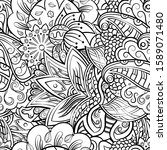 tracery seamless pattern.... | Shutterstock .eps vector #1589071480