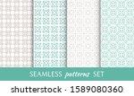 set of seamless line patterns.... | Shutterstock .eps vector #1589080360