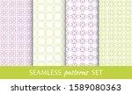 set of seamless line patterns.... | Shutterstock .eps vector #1589080363