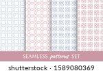 set of seamless line patterns.... | Shutterstock .eps vector #1589080369
