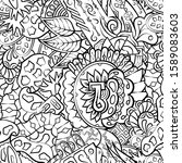 tracery seamless pattern.... | Shutterstock .eps vector #1589083603