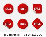 set of red sale sticker.... | Shutterstock .eps vector #1589111830