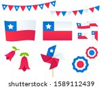 chile design elements set.... | Shutterstock . vector #1589112439