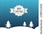 vector illustration of xmas tree | Shutterstock .eps vector #158911433