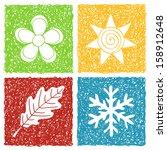 illustration of four seasons... | Shutterstock . vector #158912648