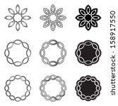 set of celtic knot elements ... | Shutterstock .eps vector #158917550