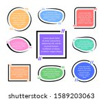 set of quote frames. colorfull... | Shutterstock .eps vector #1589203063