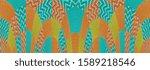 decorative colorful fabric... | Shutterstock . vector #1589218546