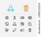 hygiene icons set. watering...