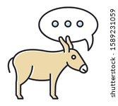 Balaam Donkey Bible Story Color ...