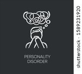 personality disorder chalk icon.... | Shutterstock .eps vector #1589231920