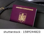 close up of romanian passport... | Shutterstock . vector #1589244823