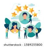 vector business graph  open... | Shutterstock .eps vector #1589255800