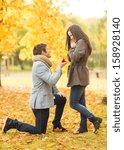 holidays  love  couple ... | Shutterstock . vector #158928140