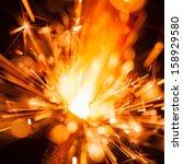 colorful christmas sparkler | Shutterstock . vector #158929580