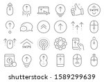 swipe up line icons. scrolling... | Shutterstock .eps vector #1589299639