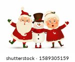 happy christmas companions.... | Shutterstock .eps vector #1589305159