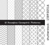 gray and white geometric ... | Shutterstock .eps vector #158930516