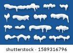 snow cap set with shadow... | Shutterstock .eps vector #1589316796