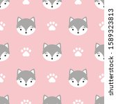 Cute Dog Seamless Pattern....
