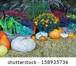 Fall Produce Arranged On A...