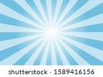 Sunshine vector background high resolution. Abstract blue sunburst wallpaper for template banner,ad,social media. - stock vector