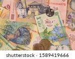 a composition of romanian leu... | Shutterstock . vector #1589419666