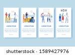 trendy center for older adults. ...   Shutterstock .eps vector #1589427976