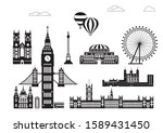 vector set of  landmarks of... | Shutterstock .eps vector #1589431450