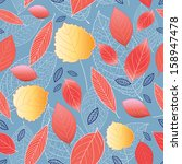 autumn seamless graphic pattern ... | Shutterstock .eps vector #158947478