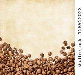 coffee vintage background | Shutterstock . vector #158952023