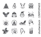 christmas party icon set  ... | Shutterstock .eps vector #1589539603