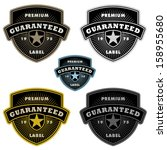 vector badge and shield label... | Shutterstock .eps vector #158955680